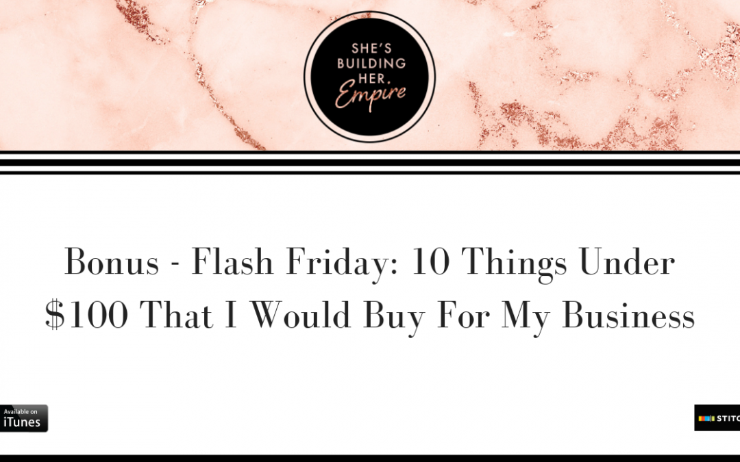 BONUS – FLASH FRIDAY: 10 THINGS UNDER $100 THAT I WOULD BUY FOR MY BUSINESS
